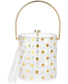 kate spade new york Gold Dots Acrylic Ice Bucket