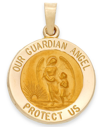 Guardian angel pendant in 14k gold necklaces jewelry watches guardian angel pendant in 14k gold aloadofball Image collections