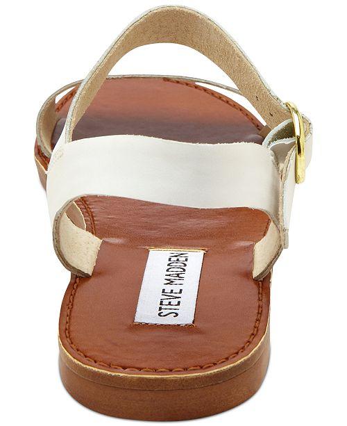 86e2efa1f095 Steve Madden Donddi Flat Sandals   Reviews - Sandals   Flip Flops ...