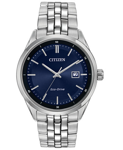 Citizen Men's Eco-Drive Stainless Steel Bracelet Watch 41mm BM7251-53L