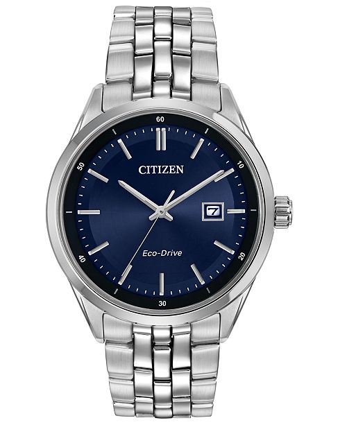 Citizen Men's Eco-Drive Stainless Steel Bracelet Watch 41mm BM7251-53L
