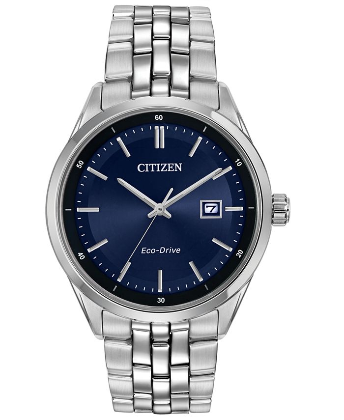Citizen - Men's Eco-Drive Stainless Steel Bracelet Watch 41mm BM7251-53L