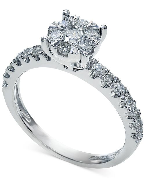 EFFY Collection Bouquet by EFFY Diamond Engagement Ring in 14k White Gold (3/4 ct. t.w.)