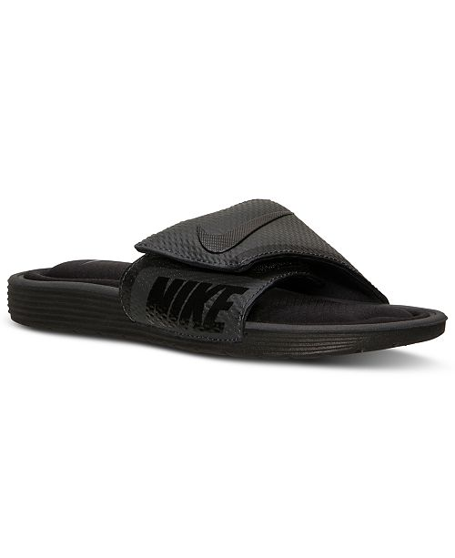 a3bc23bfde88b9 Nike Men s Solarsoft Comfort Slide Sandals from Finish Line ...