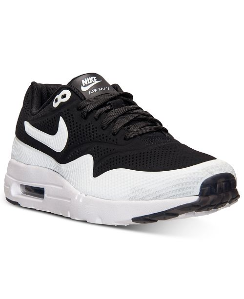 best cheap ccf62 58c42 ... Nike Men s Air Max 1 Ultra Moire Running Sneakers from Finish ...