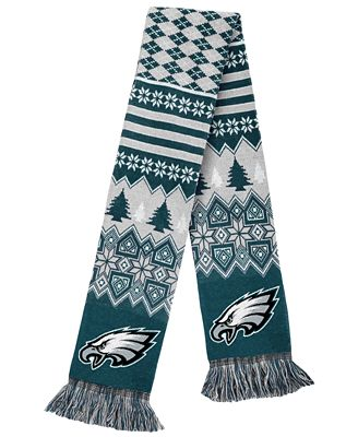 Forever Collectibles Philadelphia Eagles Christmas Sweater Scarf