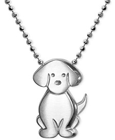 Alex Woo Little Dog Zodiac Pendant Necklace in Sterling Silver