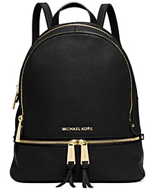Rhea Zip Small Pebble Leather Backpack