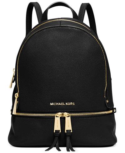 michael michael kors rhea zip small backpack handbags accessories macy 39 s. Black Bedroom Furniture Sets. Home Design Ideas