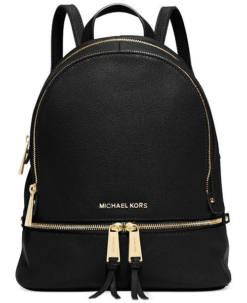 Michael Kors Rhea Zip Small Backpack   Reviews - Handbags ... 3c15eb33475a9