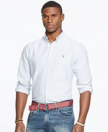 Men's Long-Sleeve Multi-Striped Oxford Shirt