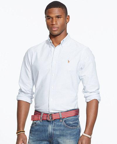 Polo ralph lauren men 39 s long sleeve multi striped oxford for Polo ralph lauren casual button down shirts