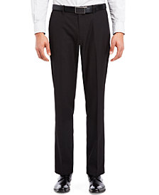 Kenneth Cole Reaction Black Flat-Front Pants