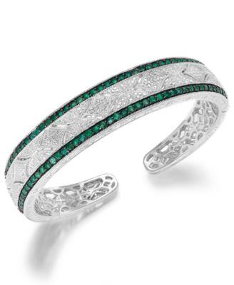 Macy S Sapphire 2 3 8 Ct T W And Diamond 1 10 Ct T W Antique