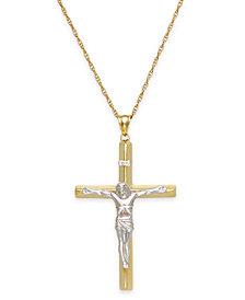 Men's Crucifix Pendant in 10k Gold
