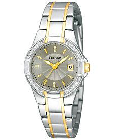 Pulsar Women's Two-Tone Stainless Steel Bracelet Watch 27mm PH7294