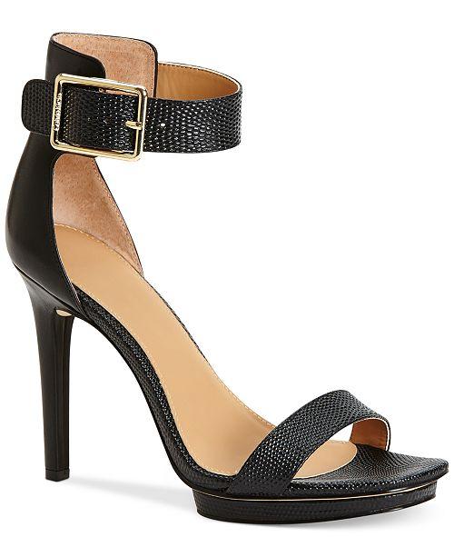 2850e700b25a Calvin Klein Women s Vable Sandals   Reviews - Sandals   Flip ...