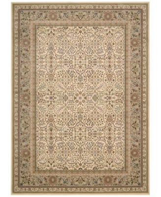 "Home Antiquities American Jewel Ivory 9'10"" x 13'2"" Area Rug"
