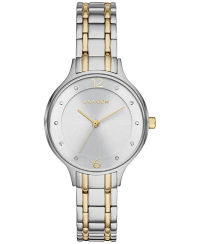 Skagen Women's Anita Two-Tone Stainless Steel Bracelet Watch 30mm SKW2321