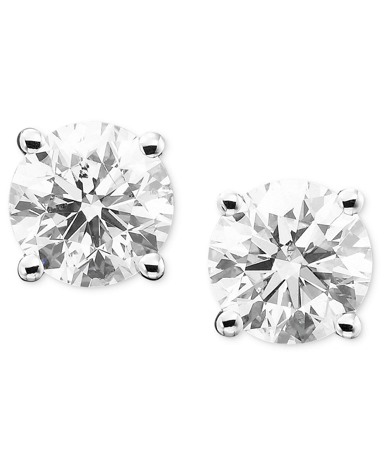 Diamond Stud Earrings In 14k Gold Or White