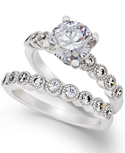 Arabella Swarovski Zirconia Bridal Set in Sterling Silver