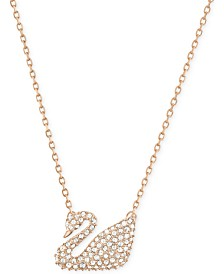 Swarovski Crystal Swan Pendant Necklace