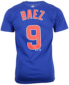 Majestic Men's Javier Baez Chicago Cubs Player T-Shirt
