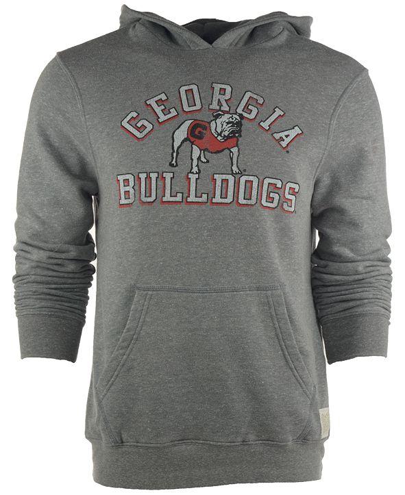 Retro Brand Men's Georgia Bulldogs Tri-Blend Hoodie