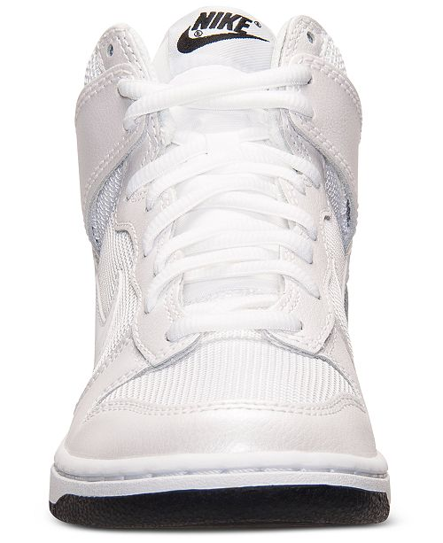 Nike Women s Dunk High Skinny Casual Sneakers from Finish Line ... 2e65aada92ab