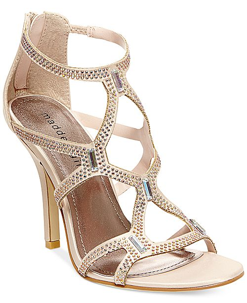 f16122083 Madden Girl Digitize Caged Rhinestone Dress Sandals   Reviews ...