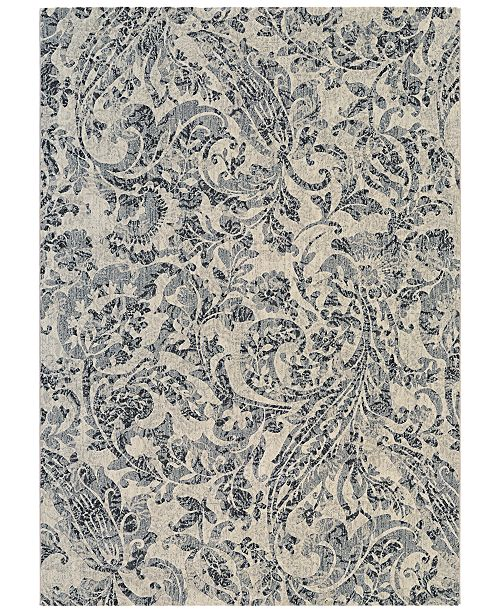 "Couristan CLOSEOUT! Taylor Prescott Ivory-Black-Grey 7'10"" x 11'2"" Area Rug"