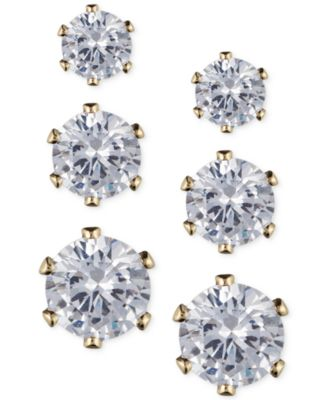 Image of Anne Klein Glass Stone Stud Earring Set