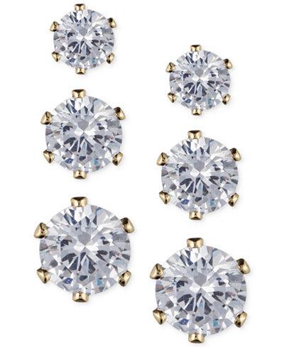 Anne Klein Glass Stone Stud Earring Set