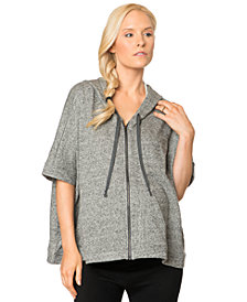 A Pea In The Pod Dolman-Sleeve Heathered Maternity Hoodie