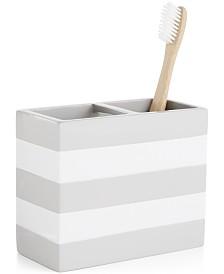 Cassadecor Lacquer Stripe Toothbrush Holder