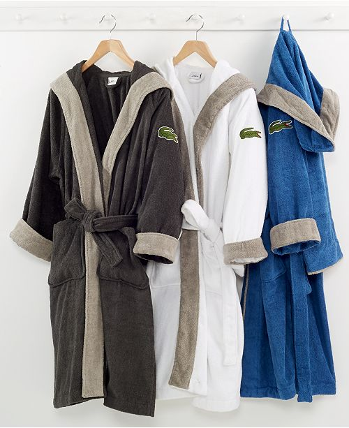 Lacoste CLOSEOUT! Signature Hooded Robe   Reviews - All Bath - Bed ... 24eacefcc