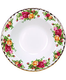 "Royal Albert Old Country Roses 8"" Rim Soup Bowl"