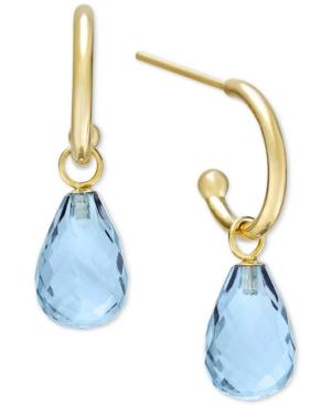 Peridot Hoop Earrings in 14k Gold (Also in Citrine