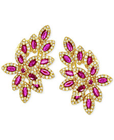 EFFY Ruby (2-1/2 ct. t.w.) and Diamond (1 ct. t.w.) Earrings in 14k Gold