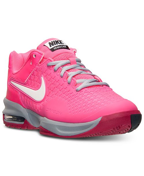 on sale 78c24 24f13 Nike Women s Air Max Cage Tennis Sneakers from Finish ...