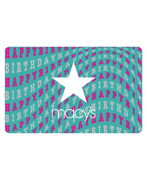 Macys Birthday E Gift Card
