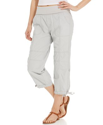 Luxury Details About NWT Women39s Calvin Klein Cropped Drawstring Cargo Pants