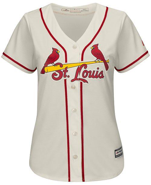 watch 79003 3635a Majestic Women's St. Louis Cardinals Cool Base Jersey ...