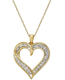 Diamond Heart Pendant Necklace in 14k Gold (1/4 ct. t.w.)