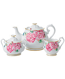Miranda Kerr for Royal Albert Friendship Teapot, Sugar & Creamer