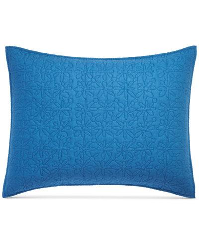 bluebellgray Fern Saxony Blue Standard Sham