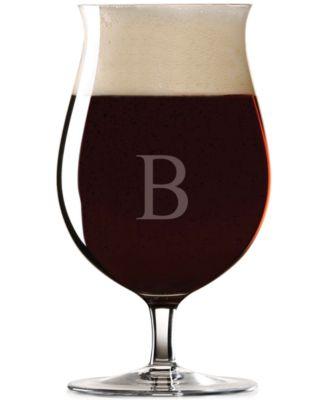 Tuscany Monogram Barware Stemmed Pilsner Glasses, Set of 4, Block Letters