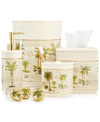 Avanti bathroom accessories colony palm collection for The collection bathroom accessories