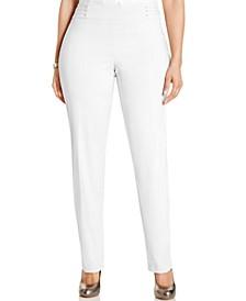 Plus Size Tummy Control Slim-Leg Pants, Created for Macy's