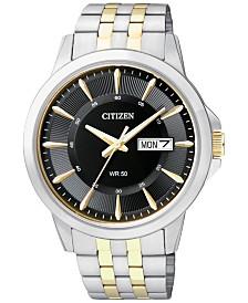 Citizen Men's Two-Tone Stainless Steel Bracelet 41mm BF2018-52E